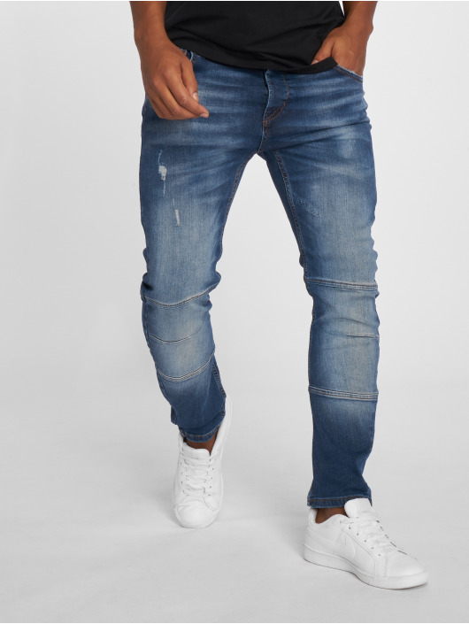 2Y Slim Fit -farkut Leoman sininen