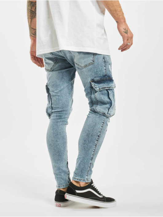 2Y Slim Fit -farkut Leon sininen