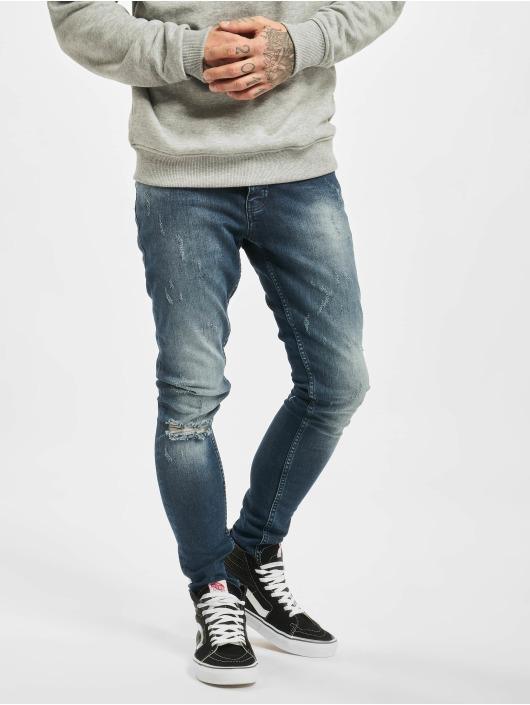 2Y Slim Fit -farkut Simon sininen