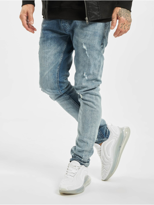 2Y Slim Fit -farkut Jim sininen