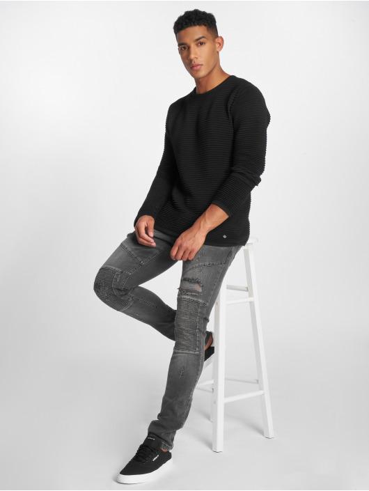 2Y Slim Fit Jeans Liso šedá