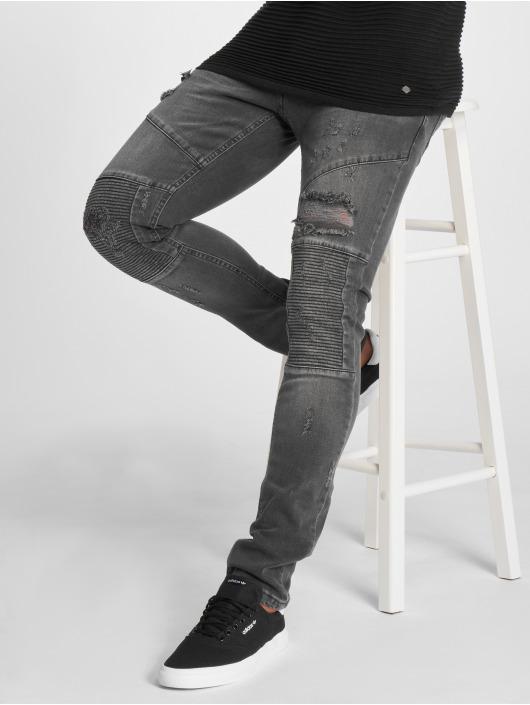 2Y Slim Fit Jeans Liso серый
