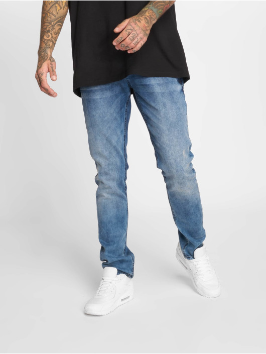 2Y Slim Fit Jeans Stone Washed blå