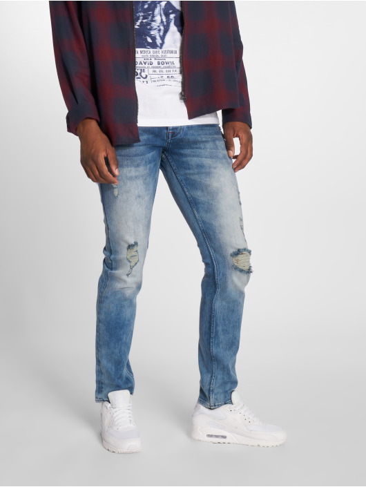 2Y Slim Fit Jeans Stone Washed blue