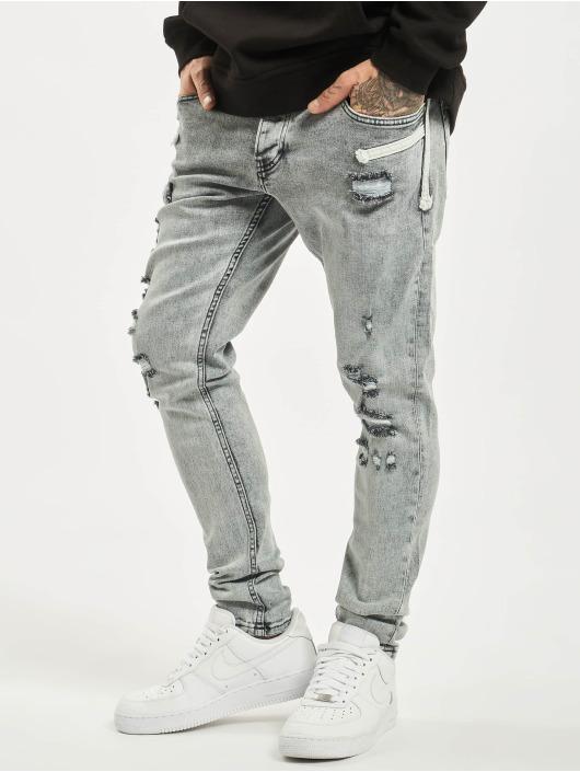 2Y Slim Fit Jeans Malik grå