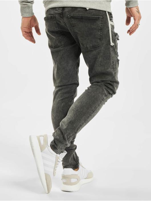 2Y Slim Fit Jeans Marled grau