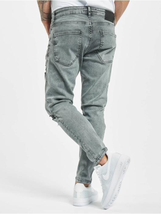 2Y Slim Fit Jeans Berk grau