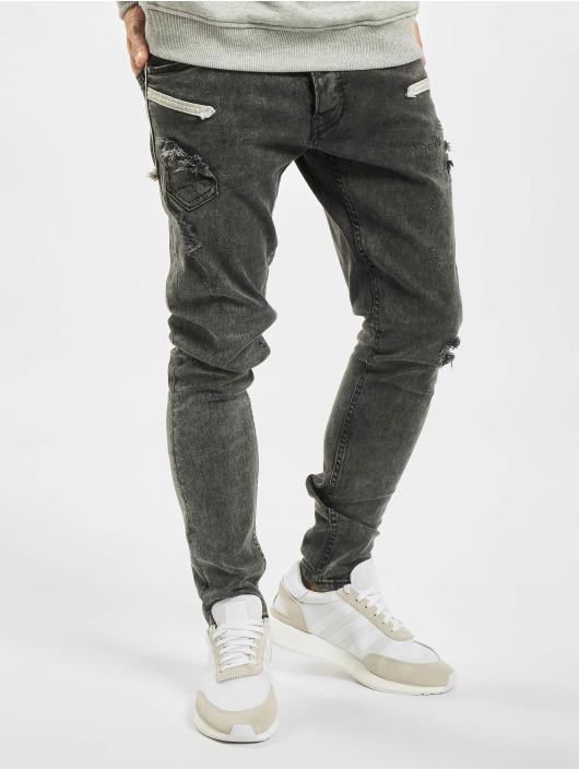 2Y Slim Fit Jeans Marled gray