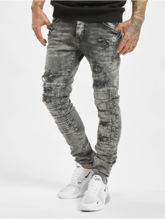 2Y Slim Fit Jeans Critic grijs