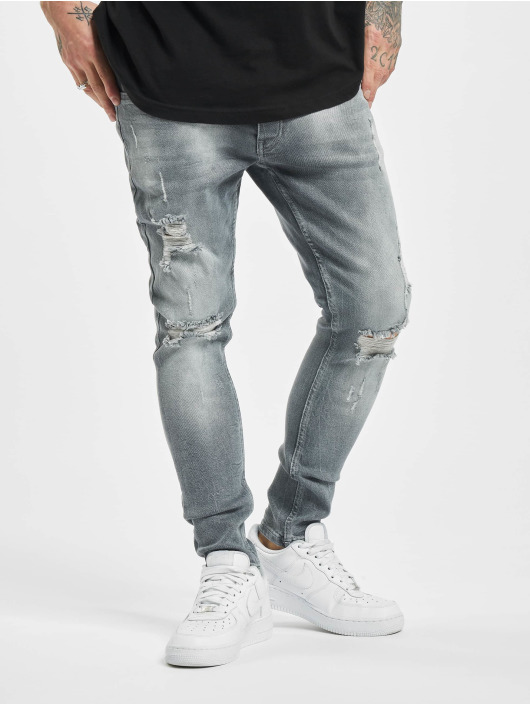 2Y Slim Fit Jeans Stan grijs