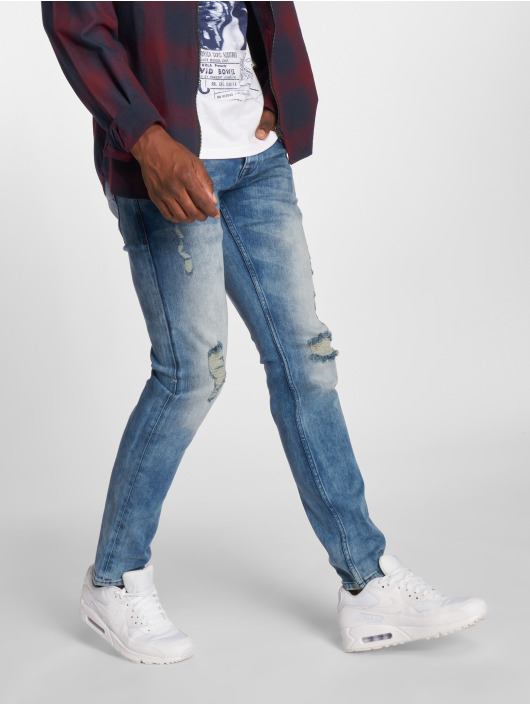 2Y Slim Fit Jeans Stone Washed modrá