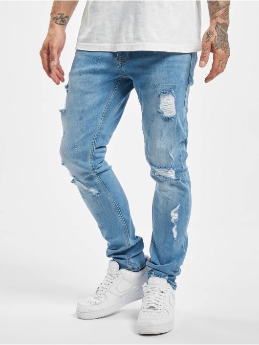 2Y Slim Fit Jeans Claudio modrá