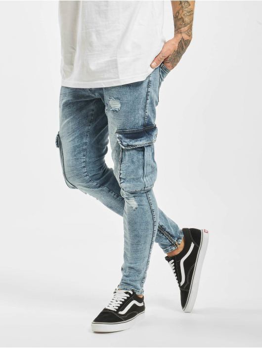 2Y Slim Fit Jeans Leon modrý
