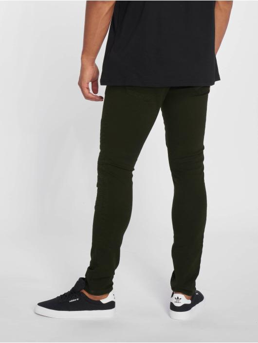 2Y Slim Fit Jeans Dio olivová