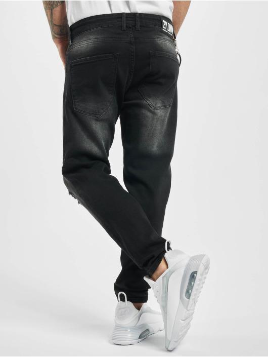 2Y Slim Fit Jeans George schwarz