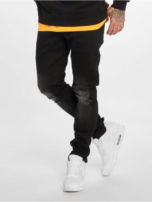 2Y Slim Fit Jeans Sidney svart