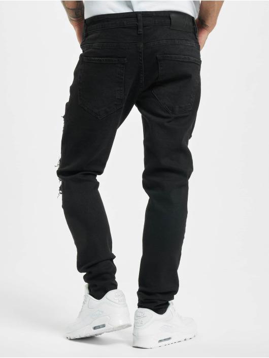 2Y Slim Fit Jeans Alkan zwart