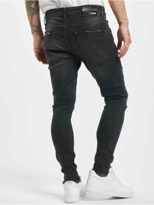 2Y Slim Fit Jeans Charles zwart
