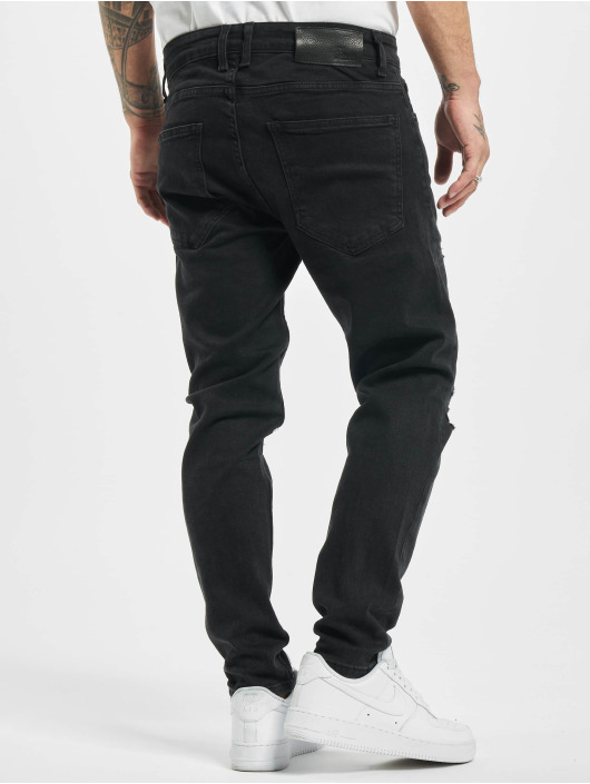 2Y Slim Fit Jeans Mo zwart