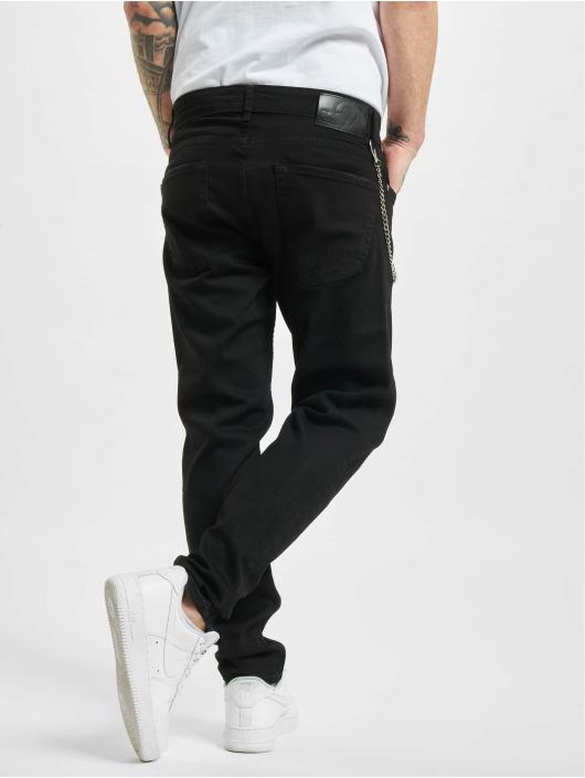2Y Slim Fit Jeans Hialeah zwart
