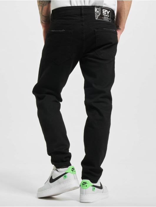 2Y Slim Fit Jeans Gibson zwart