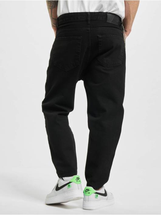 2Y Slim Fit Jeans Chain zwart