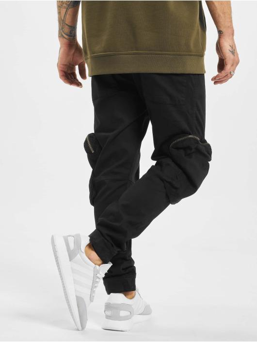 2Y Spodnie Chino/Cargo Ahmet czarny