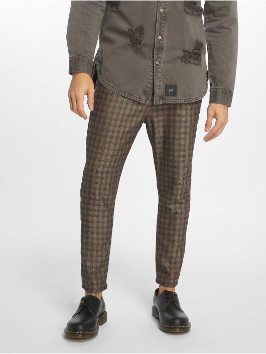 2Y Spodnie wizytowe Toby brazowy