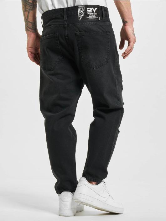 2Y Straight fit jeans Evan blauw