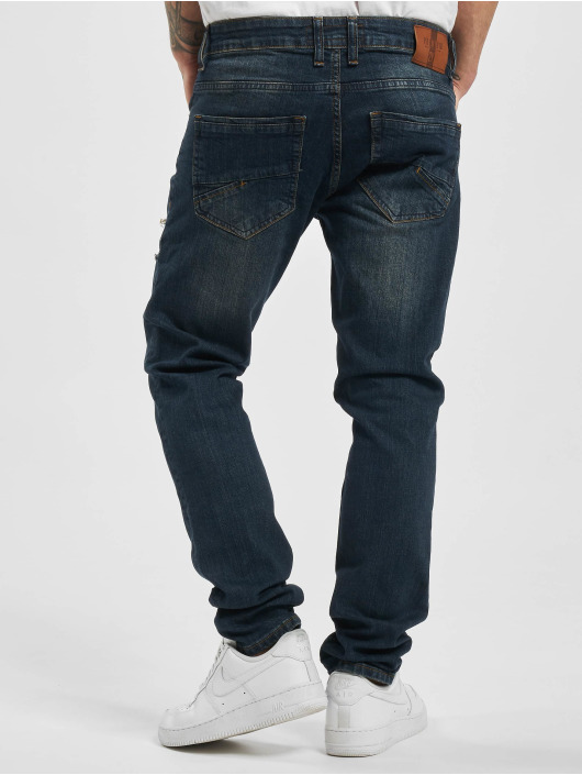 2Y Straight Fit Jeans Canan modrý