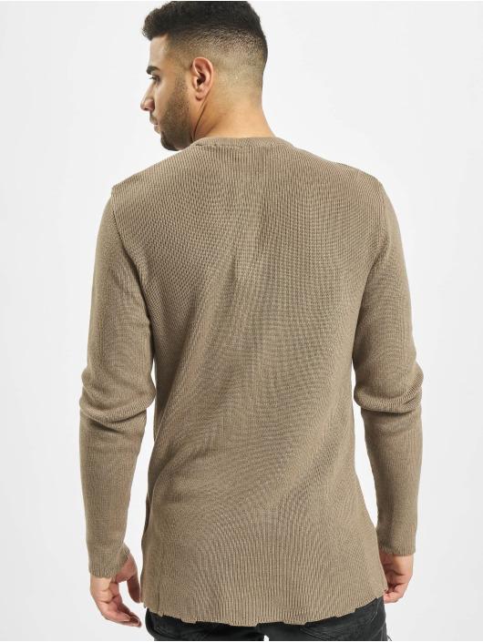 2Y Swetry Moss brazowy