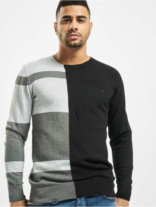 2Y Swetry Poplar Knit czarny