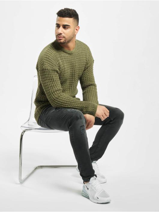 2Y Swetry Twig Knit khaki