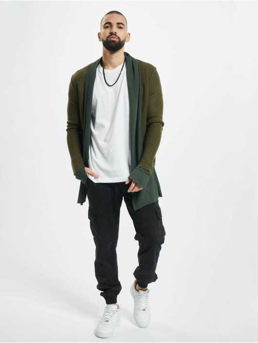 2Y Swetry rozpinane Cardigan khaki
