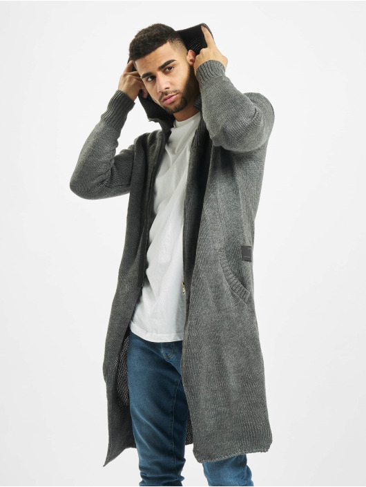 2Y Swetry rozpinane Trunk szary
