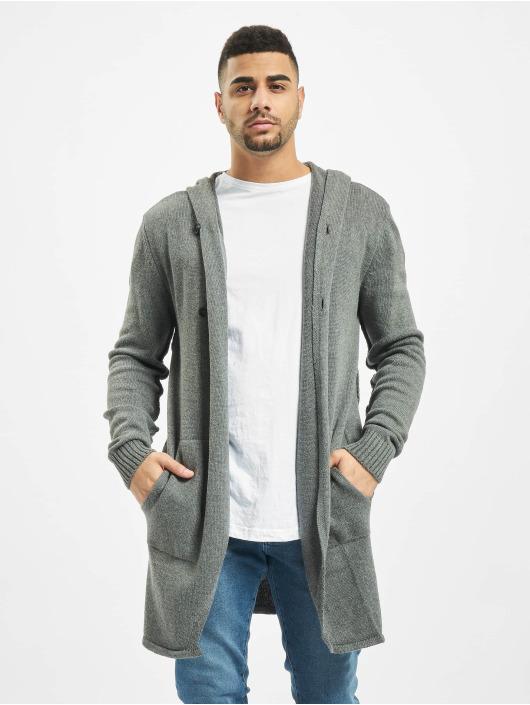 2Y Swetry rozpinane Shrub szary