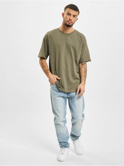 2Y Tričká Basic Fit kaki