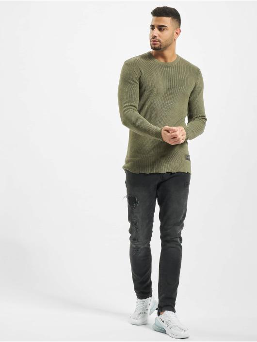 2Y Tröja Moss Knit khaki