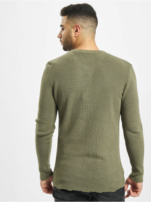 2Y trui Moss Knit khaki