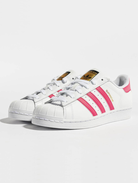 usa adidas superstar hvid with lyserød stripes 232d6 adf4e