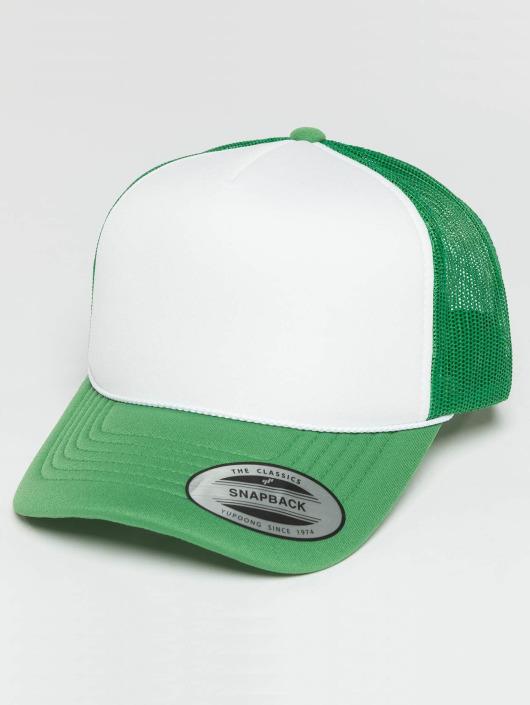 Flexfit Truckerkeps Curved Visor Foam grön