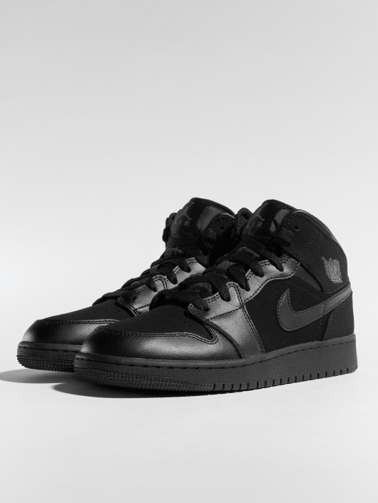 ... Jordan Baskets Air Jordan 1 Mid (GS) noir ...