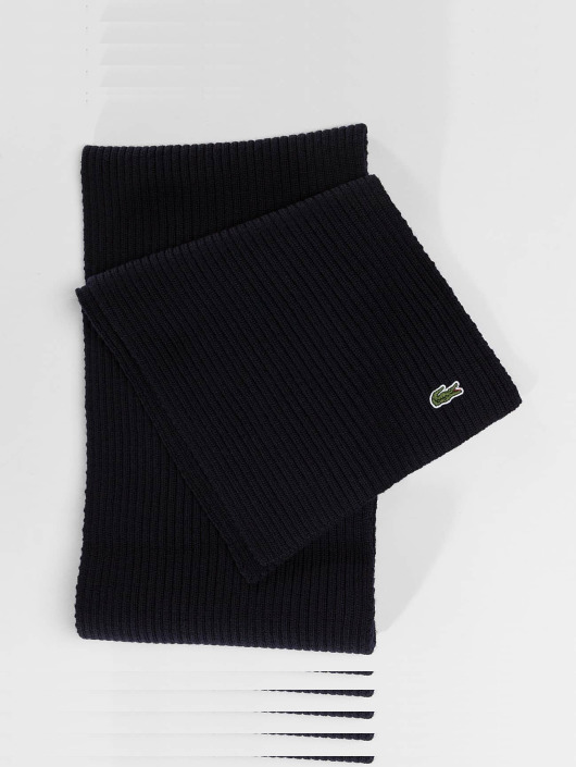 Lacoste sjaal Knitted blauw