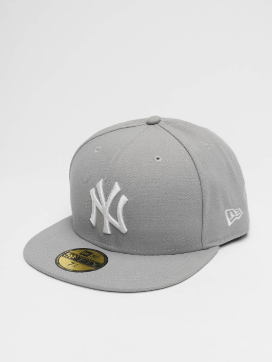 New Era Fitted Cap MLB Basic NY Yankees 59Fifty grau