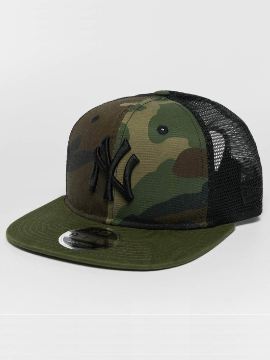 New Era Snapback Caps Washed Camo NY Yankees kamufláž