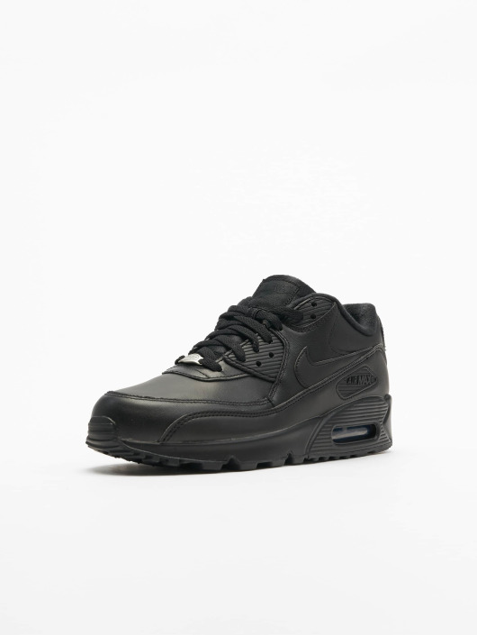 ... Nike Baskets Air Max 90 Leather noir ...