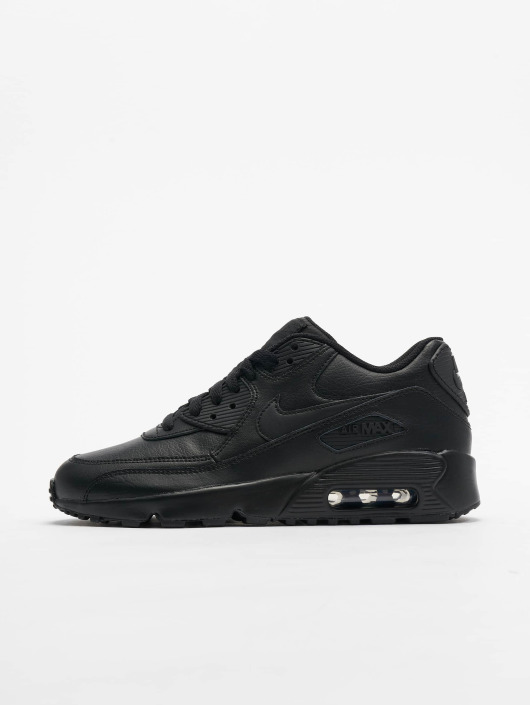 ... Nike Baskets Air Max 90 Leather (GS) noir ...