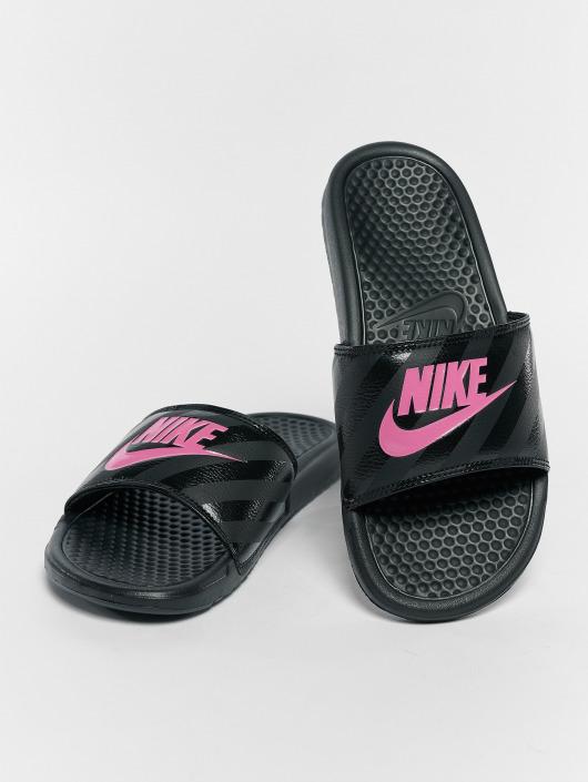 la moitié 5cc0e 5ce1e 443087 Noir Noir Claquettes Nike Nike Claquettes 443087 ...