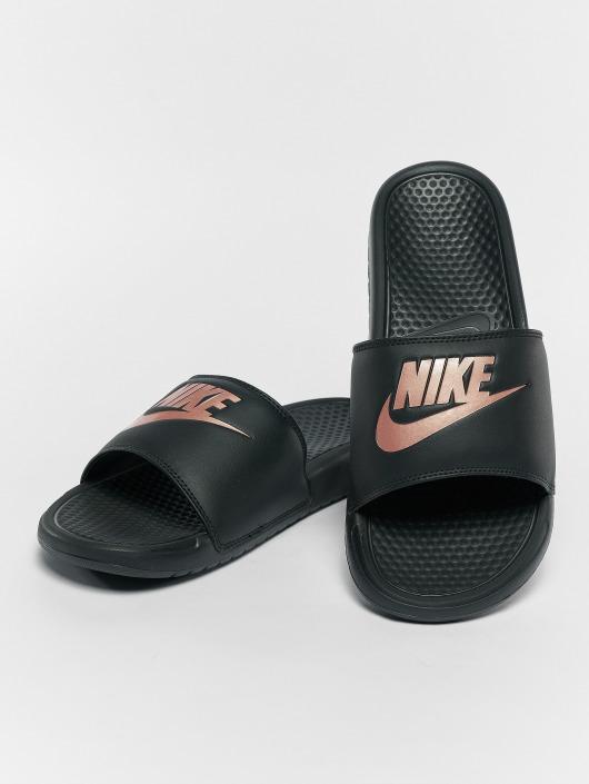 latest design running shoes outlet online Nike Benassi JDI Sandals Black/Rose Golden