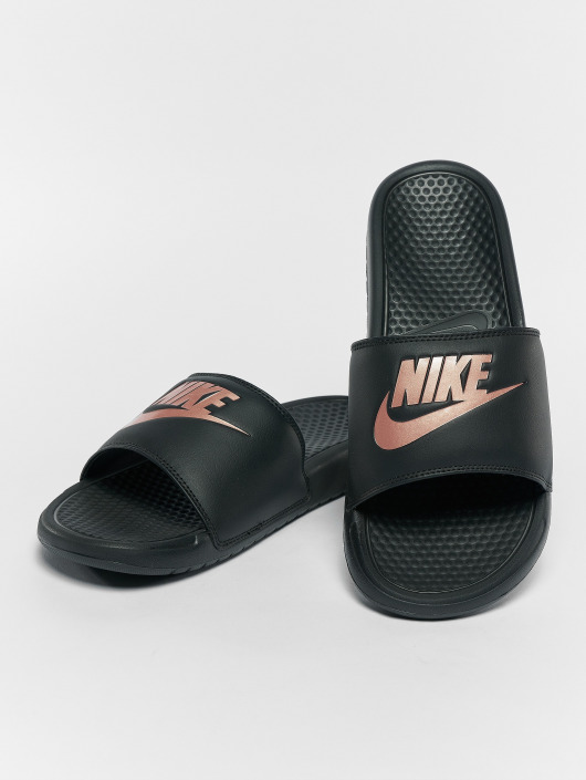 chaussures de sport 36277 9780e Nike Benassi JDI Sandals Black/Rose Golden